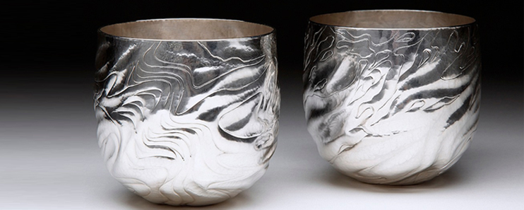 beautiful handmade silver tumblers