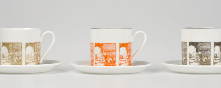 Buy handmade espresso cups with a delft pattern