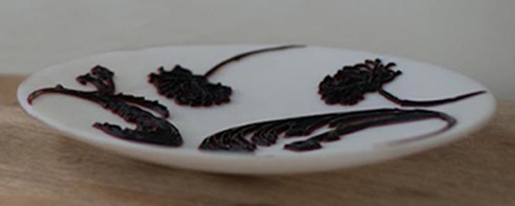 beautiful handmade glass plates