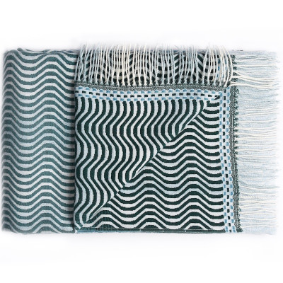 Sea Green Ripple Throw