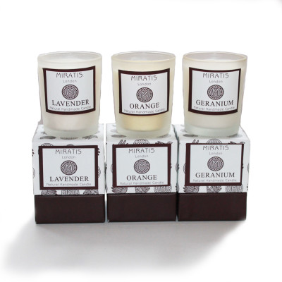 Trio of Small Scented Candles