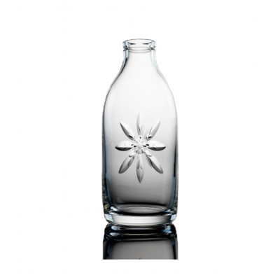 Cut Crystal Milk Bottle - Daisy Cut