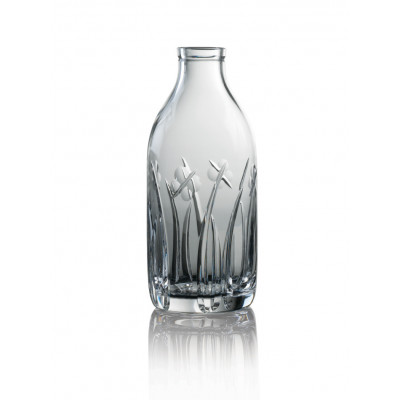 Cut Crystal Milk Bottle - Field Cut