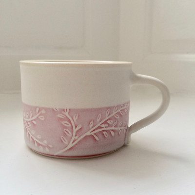 Poplar Mug - Pink and White