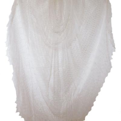 Gossamer Silk Bridal Shawl/Veil