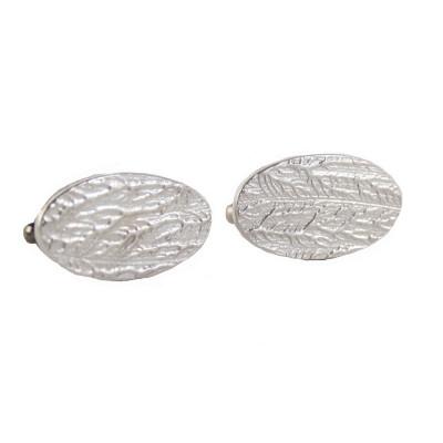 Textured Silver Cufflinks