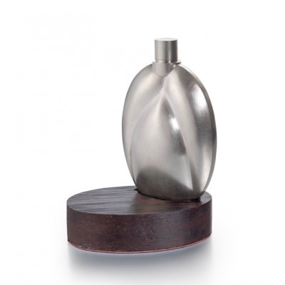 'Grain' Whiskey Flask & Stand