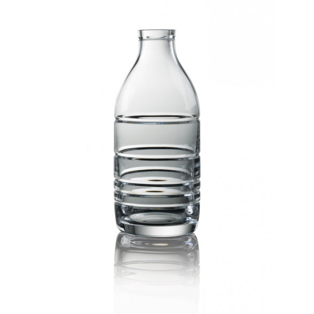 Cut Crystal Milk Bottle - 5 Ring Cut