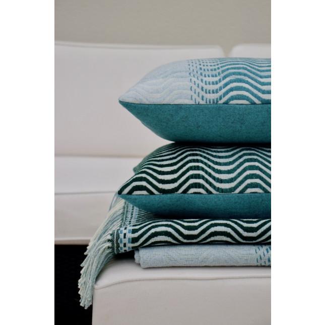Sea Green Ripple Cushion