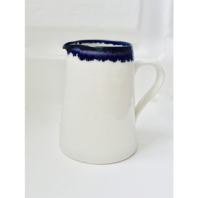 Cobalt Blue and White Jug