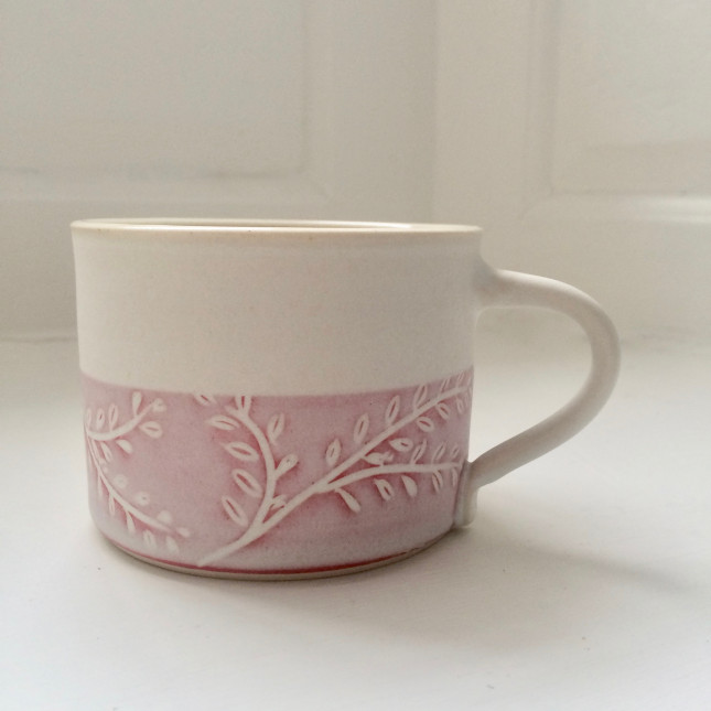 Poplar Mug - Pink and White