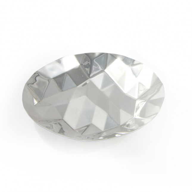 Silver Faceted Dish