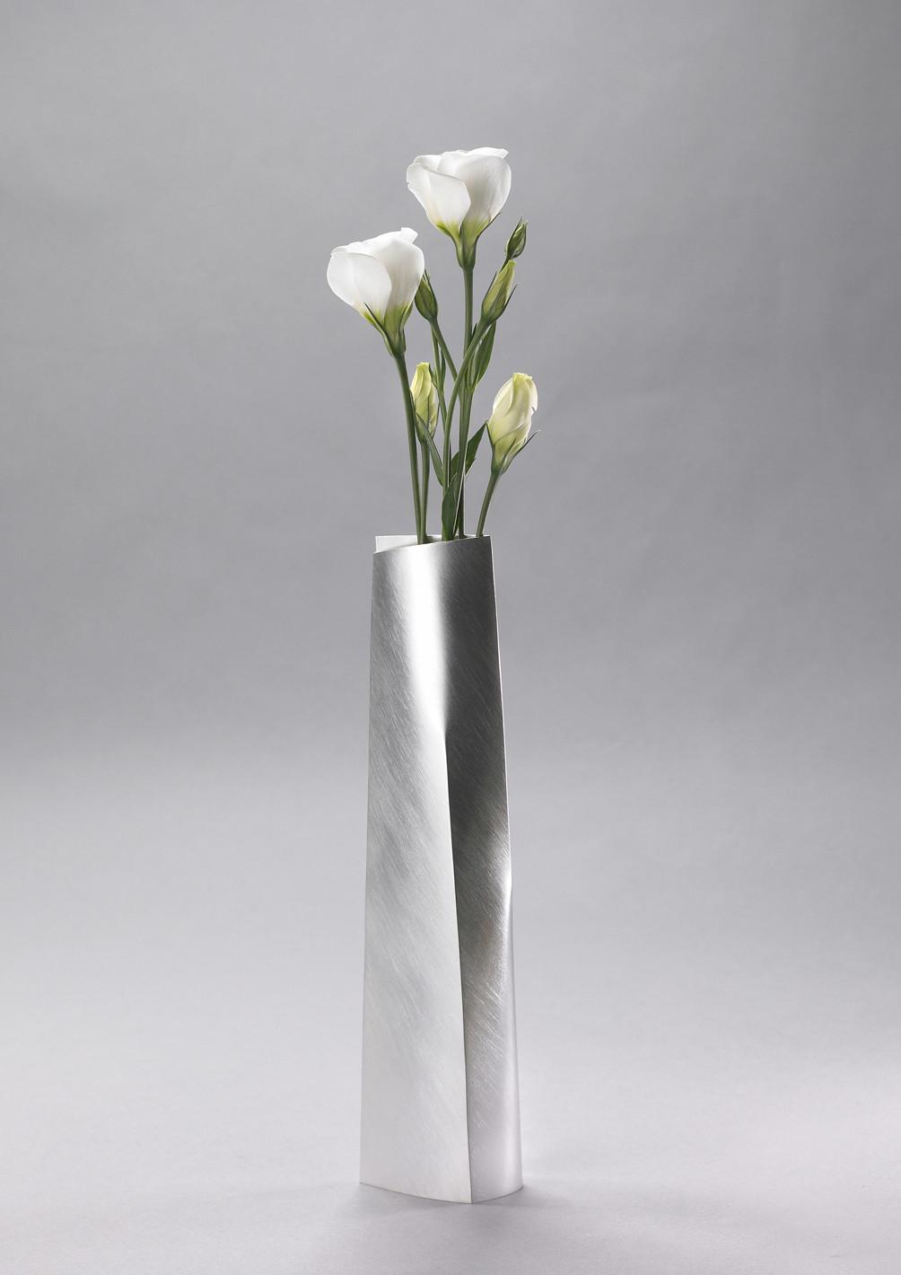 Tall Tapered Vase Vases Silver Miratis
