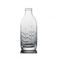 Cut Crystal Milk Bottle - Spring Cut