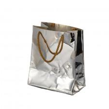 Silver Bag Vase