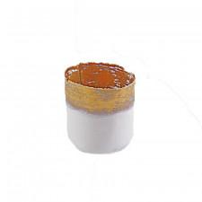 White & Gold, Small Bark Textured Vase