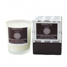 Frankincense & Myrrh with a hint of Orange Candle