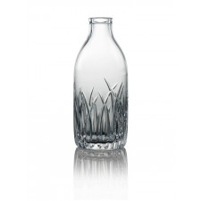 Cut Crystal Milk Bottle - Fern Cut