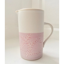 Willow Large Jug - Pink on White