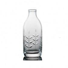 Cut Crystal Milk Bottle - Spring Cut
