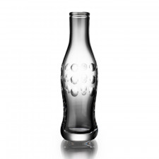 Cut Crystal Pop Bottle - Dot Cut