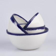 Cobalt Blue and White Nesting Bowls
