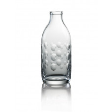 Cut Crystal Milk Bottle - Dot Cut