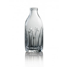 Cut Crystal Milk Bottle - Field Cut